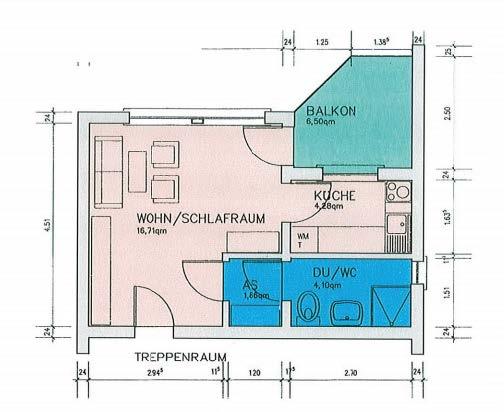 Wohneinheit mit 30 m²