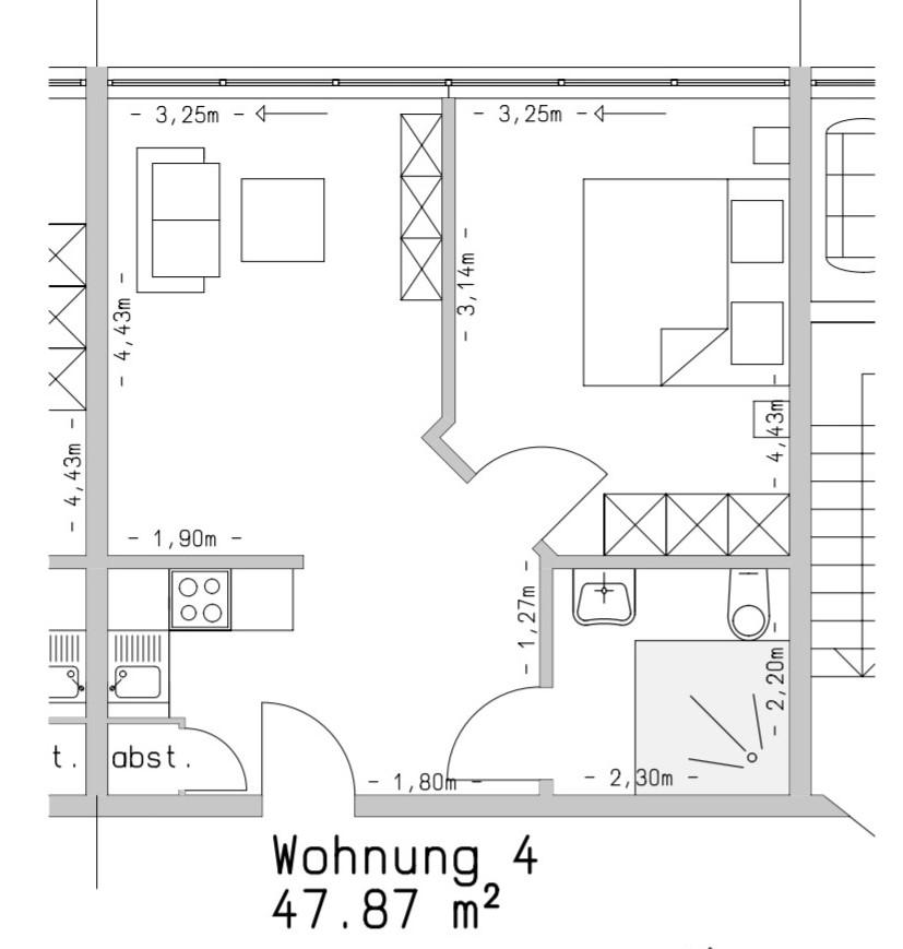 Wohneinheit mit 47 m²