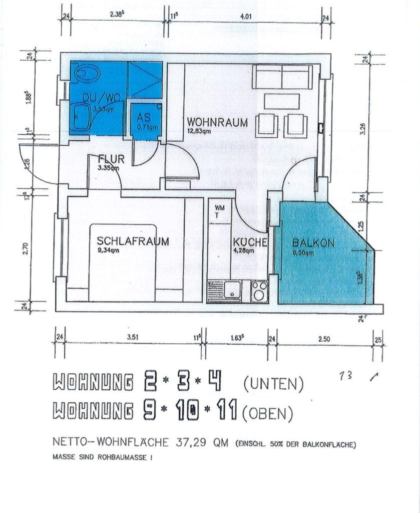 Wohneinheit mit 38 m²